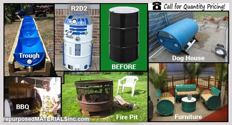 Used Steel Drums That Can And Transport Fluids Other Bulk Materials These Barrels Are Durable Have All Kinds Of Repurposes