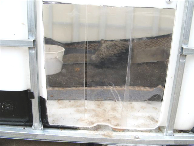 275 gal Tote Turned Into Cat Shelter - Repurposed Materials