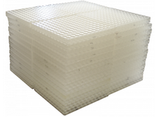 waffled cushioned transparent tiles