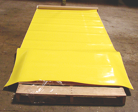Yellow vibration absorbing rubber rolls