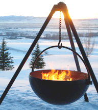 repurposedMATERIALS : Denver - Steel Propane Tank - repurposed cowboy cauldron