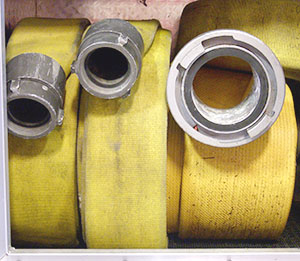 repurposedMATERIALS: Denver & Chicago - Rolls of Used Fire Hose