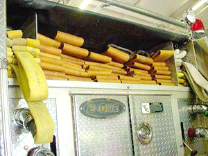 repurposedMATERIALS : Denver & Chicago - Rolls of Used Fire Hose