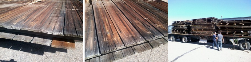 Reclaimed weathered wood panel siding pickets